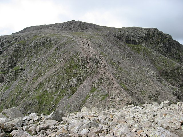 Scafell Pike across Broad Crag Col